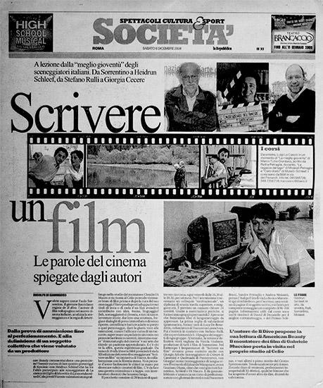 La Repubblica - articolo su Tracce snc